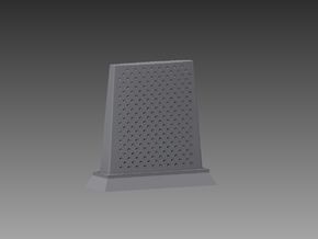 RBU water cooled blast deflector 1/72 in Smooth Fine Detail Plastic