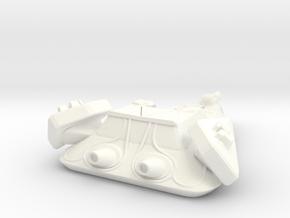 Robotic Destroyer in White Processed Versatile Plastic