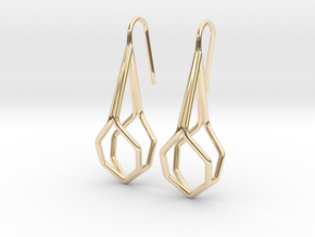 A-Line Honey Earrings. Fine Elegance. in 14K Yellow Gold