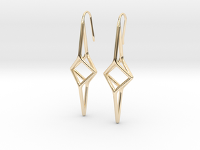 YOUNIVERSAL Y2 Earrings. Pure Elegance. in 14K Yellow Gold