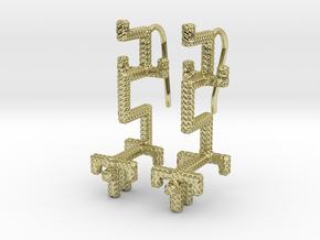 GOLDEN DRAGON Earrings in 18k Gold Plated Brass