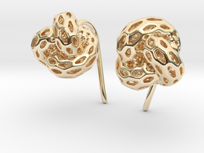D-STRUTURA Earrings in 14K Yellow Gold: Small