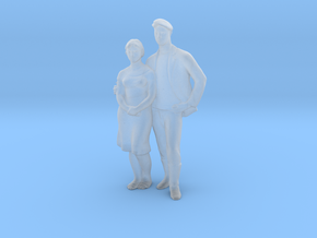 Printle V Couple 139 - 1/87 - wob in Smooth Fine Detail Plastic