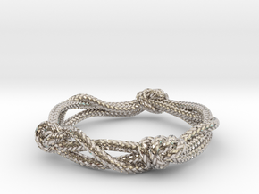 Rope ring in Rhodium Plated Brass: 5 / 49