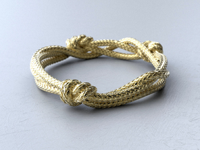 Rope ring in 18k Gold Plated Brass: 5 / 49