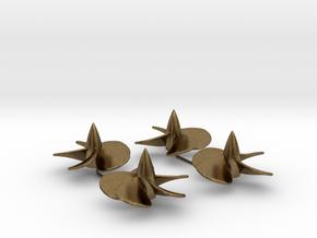 1/200 Iowa-class screw set - metal in Natural Bronze
