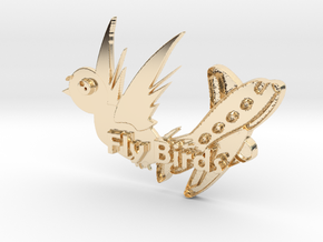 Fly Birds Pendant in 14K Yellow Gold