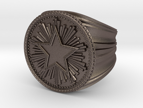 CS:GO Service Medal Ring in Polished Bronzed Silver Steel