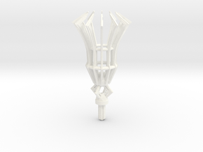 Staff of Ultimate Power  in White Processed Versatile Plastic