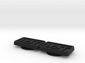 Badge for VW Golf 2 1,8T 1.8T 1.8 Turbo in Black Natural Versatile Plastic