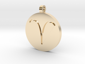 Aries Pendant in 14k Gold Plated Brass