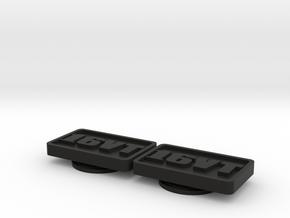Badge for VW Golf 2 16VT neg 16V Turbo in Black Natural Versatile Plastic