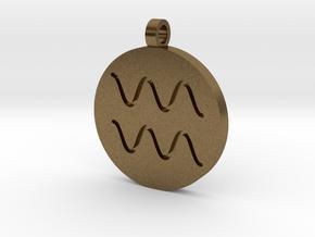 Aquarius Pendant in Raw Bronze