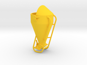 1 50 Concretebucket 750L no lifting bail. in Yellow Processed Versatile Plastic