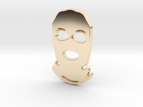 Balaclava Pendant in 14K Gold