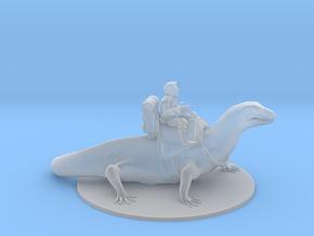 Gnome Warlock on Lizard Mount in Smooth Fine Detail Plastic