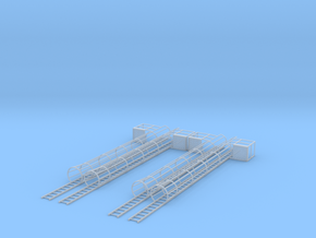 1/64 Ladder and Cage 30' 2 Sets in Smooth Fine Detail Plastic