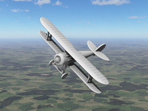Nieuport 28 in White Strong & Flexible: 1:144
