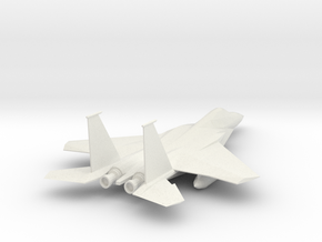 F-15_Simple Aircraft Toy in White Natural Versatile Plastic: Medium