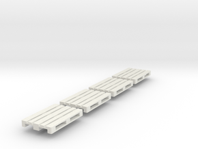 1/43 0 gauge 4 x Europalette Euro pallet EPAL in White Natural Versatile Plastic