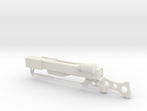 Fallout Laser Rifle in White Natural Versatile Plastic: 28mm