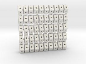 Roof Hex Layout2 (50) 72:1 Scale in White Natural Versatile Plastic