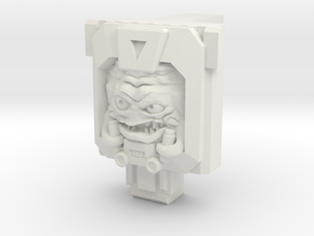 Krang PotP Fist-Plate in White Natural Versatile Plastic