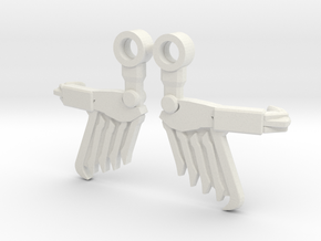 Wings for PotP Dinobot Slash in White Premium Versatile Plastic