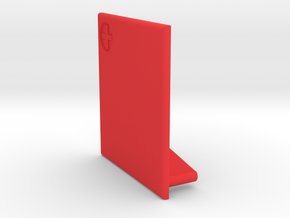 Lancia Delta Battery cover in Red Processed Versatile Plastic