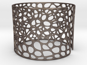 Voronoi Bracelet (Sizes S M L) #unique in Polished Bronzed Silver Steel: Medium