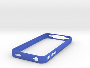 Bumper case for iPhone 4 in Blue Processed Versatile Plastic