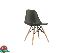 1:12 Miniature Eames DSW Chair - Charles Eames in White Natural Versatile Plastic: 1:12