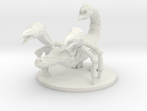 Crocorpion (Large Beast) in White Natural Versatile Plastic