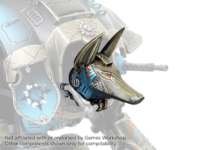 Egyptian Robot - Anubis Head in Smooth Fine Detail Plastic