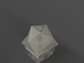 D20 Natural 20 LoPro Keycap - MX Stem in Smoothest Fine Detail Plastic
