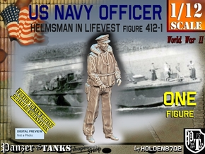 1/12 USN Officer Helmsman 412-1 in White Natural Versatile Plastic