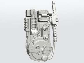 Ghostbusters Proton Pack in White Strong & Flexible: 28mm
