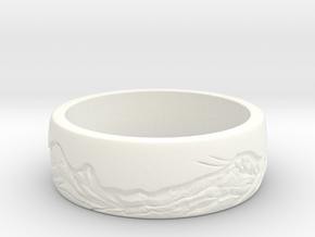 mountain ring in White Processed Versatile Plastic