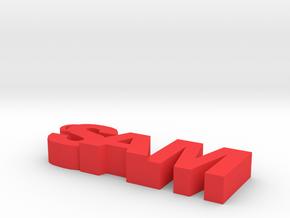 sam keychain in Red Processed Versatile Plastic