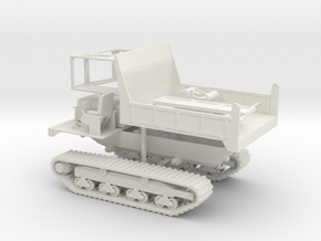 1/50th Morooka Type Tracked Carrier Vehicle in White Natural Versatile Plastic