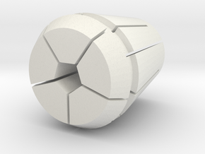 Collet-w-pen.3125 in White Natural Versatile Plastic