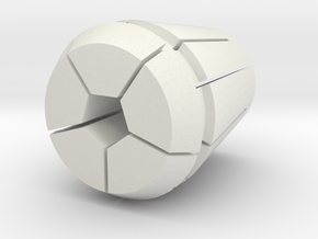 Collet-w-pen.34375 in White Natural Versatile Plastic