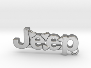 Jeep Keychain in Natural Silver
