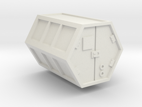 Cargo Freight Container  in White Natural Versatile Plastic