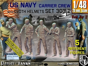 1/48 USN Carrier Deck Crew Set303-2 in Smooth Fine Detail Plastic