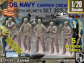 1/20 USN Carrier Deck Crew Set303-2 in White Natural Versatile Plastic