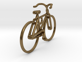 Bicycle Pendant in Raw Bronze
