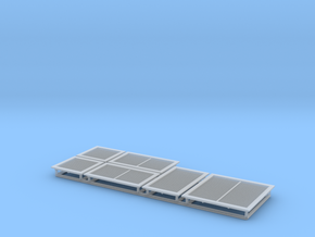 HO Scale vents 6pc in Smooth Fine Detail Plastic