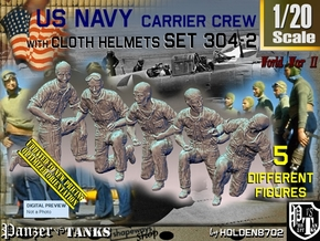 1/20 USN Carrier Deck Crew Set304-2 in White Natural Versatile Plastic