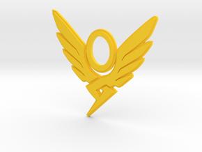 valkerie pendant in Yellow Processed Versatile Plastic